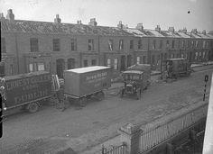 Dublin houses under construction Dublin Street, Dublin City, Old Pictures, Old Photos, Dublin House, House Under Construction, Photo Engraving, Dublin Ireland, Over The Years