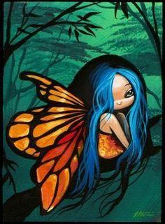 fairy art | Art: Tiny Forest Fairy-Art Card by Artist Nico Niemi