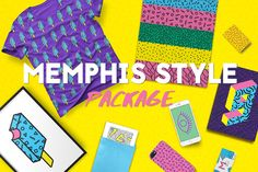 Memphis Style Package by Anchors_and_Curves on @creativemarket
