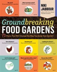 Groundbreaking food gardens : 73 plans that will change the way you grow your garden / by Jabbour, Niki. Vertical Pallet Garden, Pallets Garden, Pallet Gardening, Vegetable Garden Planning, Vegetable Garden Design, Vegetable Gardening, Veggie Gardens, Gardening Books, Container Gardening