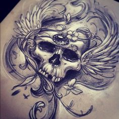 not the skull but the design of the piece