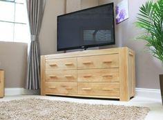 Atlas Large Chest Of Drawers (3 Plus 3) - CMR12A is part of the  Atlas solid oak collection which captures the popularity of oak furniture, featuring chunky oak construction. #Furniture #Bedroom #BedroomFurniture #PriceCrashFurniture #Atlas #Drawer #DrawerChest #Storage http://pricecrashfurniture.co.uk/atlas-large-chest-of-drawers-3-plus-3-cmr12a.html