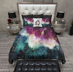 Watercolor Galaxy Duvet Bedding Sets