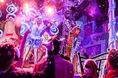 "The Mad T Party gets much merrier during this rock-and-roll Holiday celebration at Disney California Adventure Park, performing classic seasonal songs, like ""Let It Snow"" and ""Winter Wonderland"""