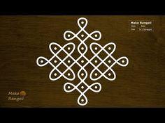 Simple Sikku Kolam with dots Indian Rangoli Designs, Rangoli Designs Flower, Rangoli Border Designs, Rangoli Patterns, Rangoli Ideas, Rangoli Designs Images, Rangoli Designs With Dots, Rangoli With Dots, Beautiful Rangoli Designs
