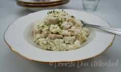 Domestic Diva: Creamy Garlic Chicken Risotto