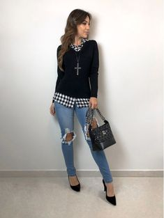7 amazing looks to wear at work Sporty Outfits, Casual Fall Outfits, Classy Outfits, Stylish Outfits, Look Fashion, Fashion Outfits, Womens Fashion, Fashion Fall, Mode Swag