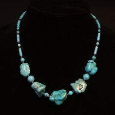 Grossi pezzi di collana Blu Turchese di BlessingStones su Etsy