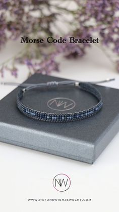 Whatever the message and story behind it, I am honored to provide a bracelet that means so much more to people than just a beautiful piece of jewelry. #morsecodebracelet #beadedbracelet #unisexbracelet #morsecodejewelry Presents For Your Boyfriend, Morse Code Bracelet, Beaded Wrap Bracelets, Meaningful Gifts, Gender Neutral, Bracelet Making, Natural Gemstones, Coding, Messages