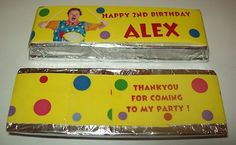 X6 PERSONALISED CHOCOLATE BAR WRAPPER you choose the design X6 party/goody bag | eBay