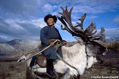 Matriarca chamán tsaatan, Mongolia.