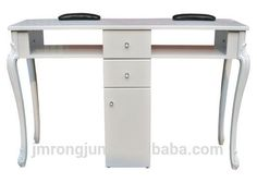 Source Beauty Queen style white twin manicure nail salon desk on m.alibaba.com