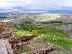 View of Ararat and Doğubeyazit from Ishak Paşa Sarayı, Turkey
