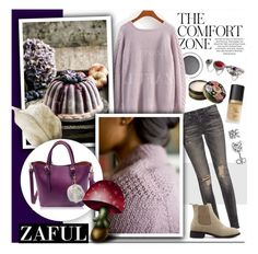 """Zaful 87"" by melissa-de-souza ❤ liked on Polyvore featuring H&M, R13, Anna Sui, Too Faced Cosmetics, BERRICLE and zaful"