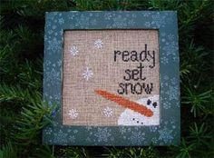 Ready Set Snow - Cross Stich Pattern