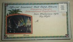 Post Card Album Night Views Panama Pacific International Exposition PPIE 1915 | eBay