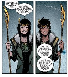 Genderfluid Loki gives me life TBH.I have a lot of feelings about this series, probably too many but I can live with it. For now at least.From Loki: Agent of Asgard #16