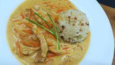 Rýchle kuracie prsia na maslovej tekvici a mrkve v smotanovej omáčke – Recepis.sk Thai Red Curry, Ale, Meat, Chicken, Ethnic Recipes, Food, Cooking, Ale Beer, Essen