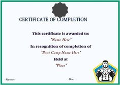 11 best boot camp certificate template images on pinterest in 2018 our collection of boot camp certificate template develops the beauty plus style of your awards you will be able to create wonderful accolades with the help maxwellsz