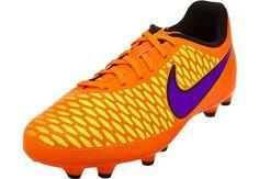 Grab a pair at www.soccerpro.com! Nike Kids Magista Onda FG Soccer Cleats - Orange and Red