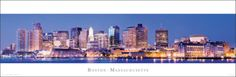 Massachusetts - Boston Skyline Prints at AllPosters.com