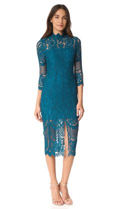 Teal lace dress Leading Lady Dress by Yumi Kim Casual Party Dresses, Sheer Dress, Modern Fashion, Dresses For Work, Lace Dresses, Dress Lace, Lady, Bridesmaids, Turquoise Weddings