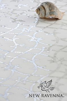Avila, a handmade mosaic shown in honed Thassos and polished Statuarietto, is part of the Miraflores collection by Paul Schatz for New Ravenna. Floor Patterns, Tile Patterns, Mosaic Glass, Mosaic Tiles, Mosaic Floors, Stone Mosaic Tile, Marble Mosaic, Tile Flooring, Ravenna Mosaics