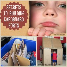 Cardboard playhouse: learn how to make a playhouse of any size, using nothing more than recycled cardboard and some tape.