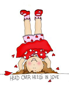 Free Dearie Dolls Digi Stamps: Head over heels in Love girl