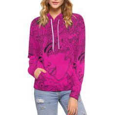 Hoodies Sirène Pink Sweat Shirt, Creations, Athletic, Zip, Hoodies, Jackets, Fashion, Women, Down Jackets