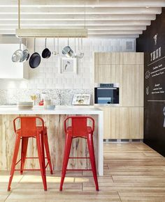 Cocinas con barra o isla   Estilo Escandinavo