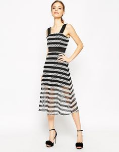 Love love love this ASOS Premium Lace Midi Dress in Stripe (and it looks wayyyy better in url!)