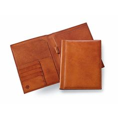 This writing case is made from Sonnenleder pit-tanned Allgäu cowhide. After being fatted and milled the... - Travel Writing Case Made of Cowhide