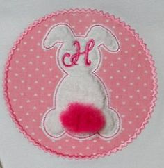 Bunny Tail Monogram Frame Applique - 3 Sizes!   Easter   Machine Embroidery Designs   SWAKembroidery.com Band to Bow