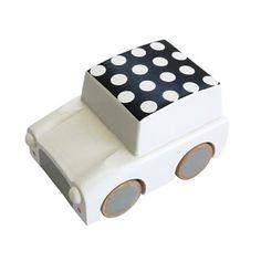Kukkia Kiko+ Kuruma Toy Car - White Dots