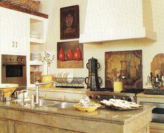 old French farmhouse kitchen