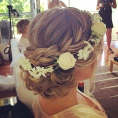 Gorgeous soft braid upstyle, perfect for the beautiful bride or bridesmaids with a boho touch, @ www.coastalstylemobilehairdressing.com.au