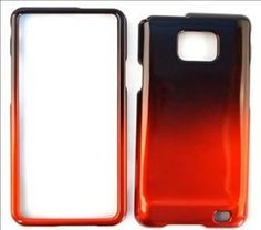 Buy Samsung Galaxy S 2, S II i9100 Two Tones, Black and Orange Hard Plastic Case, hard Cover, Protector NEW for 15.99 USD | Reusell