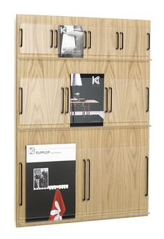Wall mounted brochure display rack - RIDÅ by Joel Karlsson - KARL ANDERSSON
