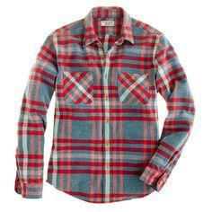 Wallace & Barnes Broken Twill Glacier Plaid Shirt
