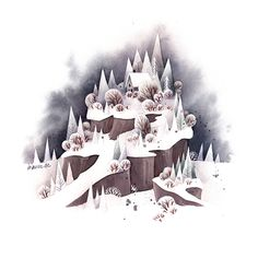 2 snowy watercolor winter illustrations i did for... - Ira from Iraville