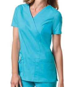 3cad82b2877 Cherokee Workwear Core Stretch Scrubs - Mock Wrap Top Core Stretches,  Uniform Clothes, Cherokee