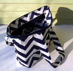 Chevron Diaper Bag with zipper Small Chevron Tote by MyaCdesign, $35.00