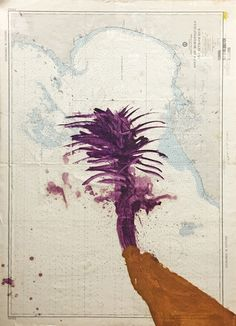 """my-nothing-self: """"  Julian Schnabel (American, b. 1951) Golfo de Morrosquillo and Approaches, 2006 """""""