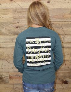 Trending now: Black and white stripes with sparkly gold calligraphy, on Comfort Colors! It doesn't get any better than this with Baylor University! Get yours today and Sic 'Em Bears!
