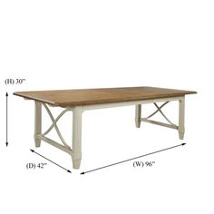 buttermilk color - Panama Jack Millbrook 72-inch Two-tone Rectangular Dining Table with self storing18-inch Leaf