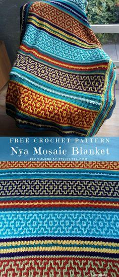 Nya Mosaic Blanket Free Crochet Pattern   DIY