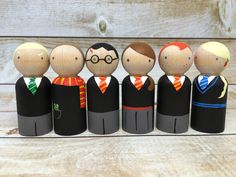 Harry Potter Peg Doll Set by PeggedByGrace on Etsy https://www.etsy.com/listing/386094510/harry-potter-peg-doll-set