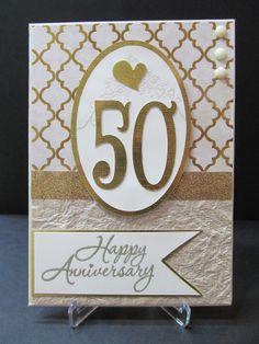 make anniversary cards handmade | 50th Anniversary Card