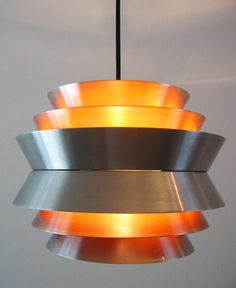 60's 70's Danish modernist hanging lamp space age Eames Fog & Morup era